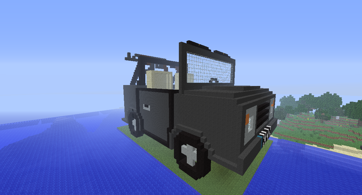 Cars in Minecraft