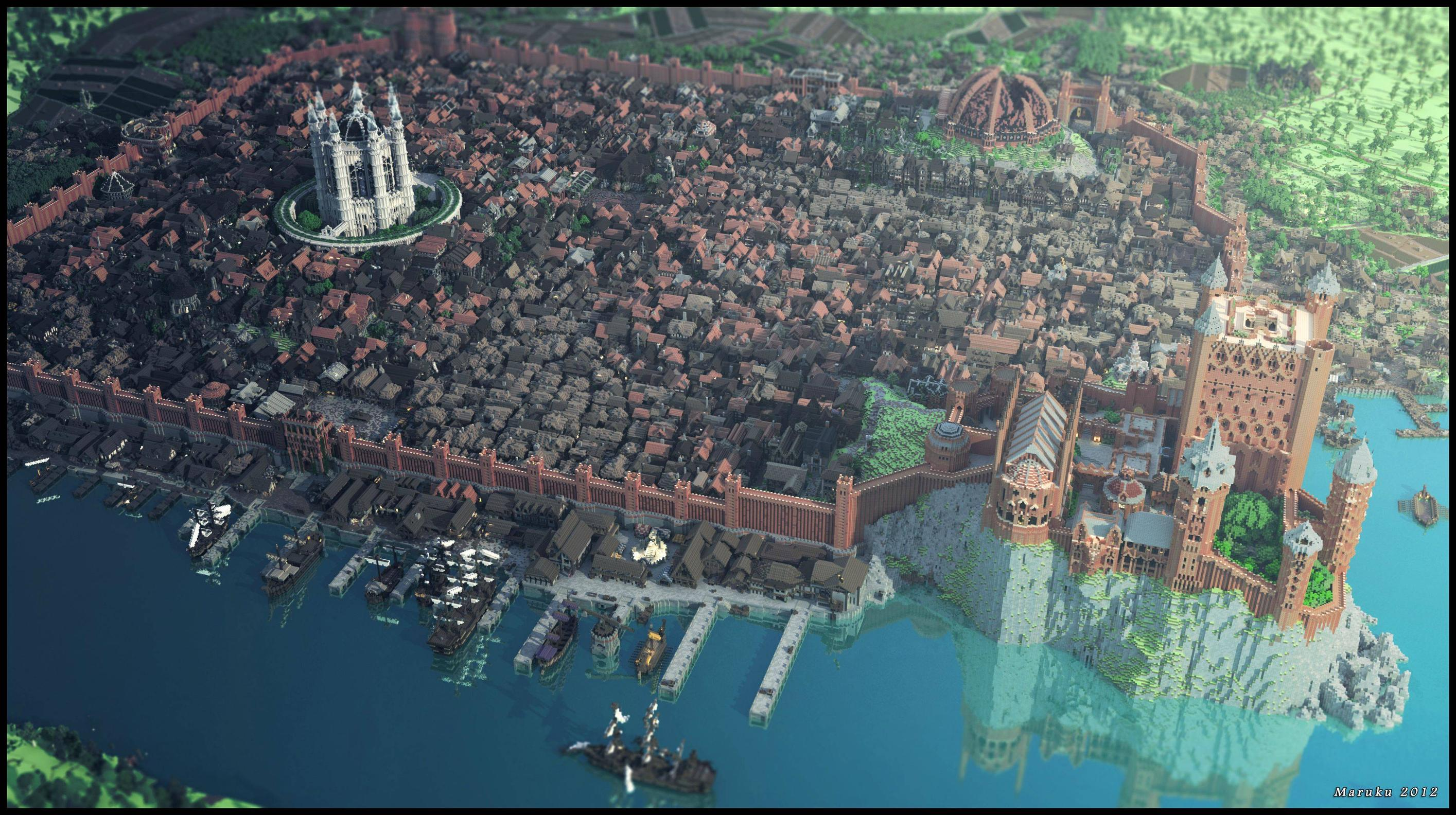 8 of the Biggest Minecraft Builds Ever - BC-GB