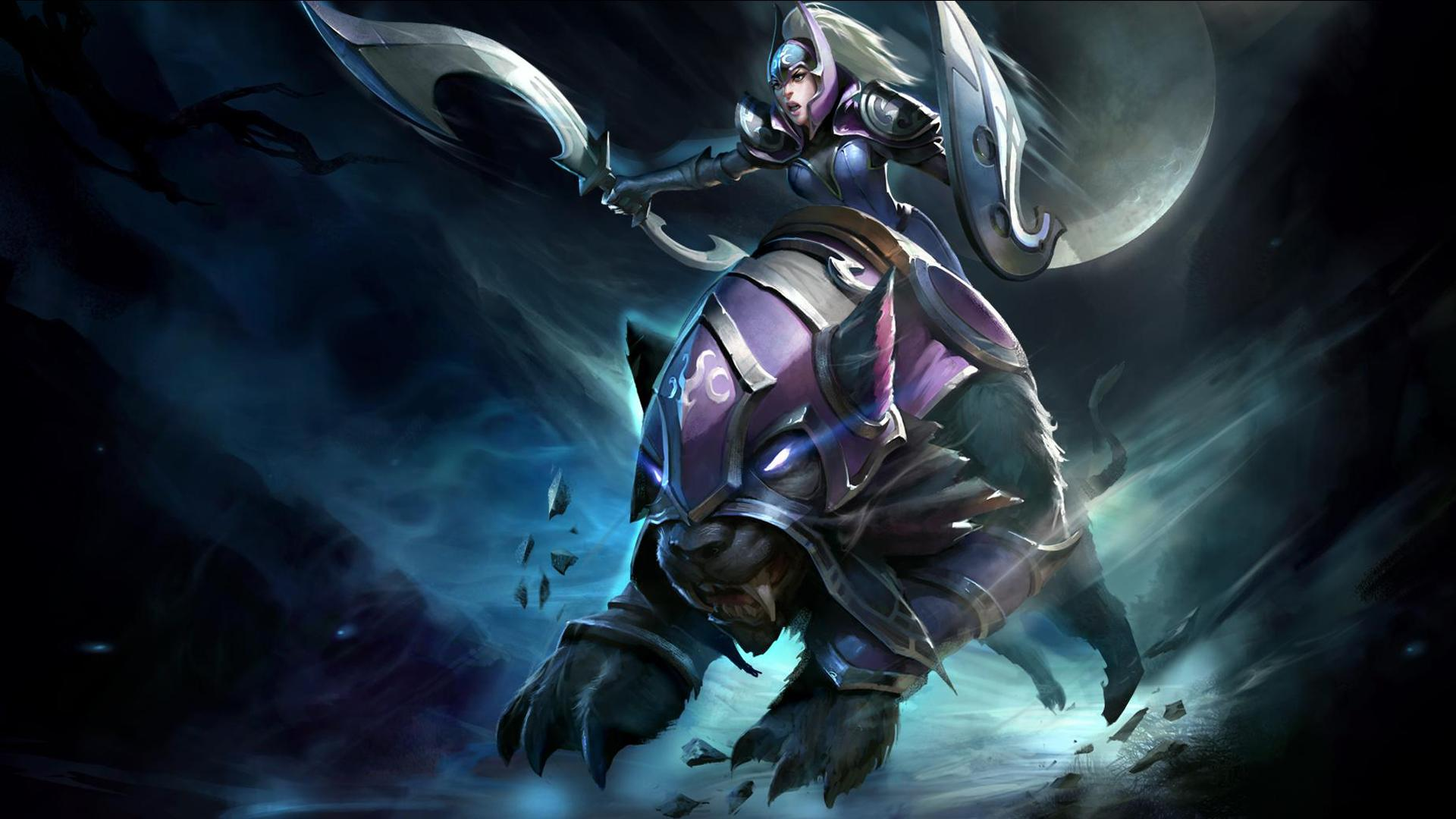 Dota2 wallpaper pc wallpapers gallery tactical gaming - 23 Luna Moon Rider By M1sk4