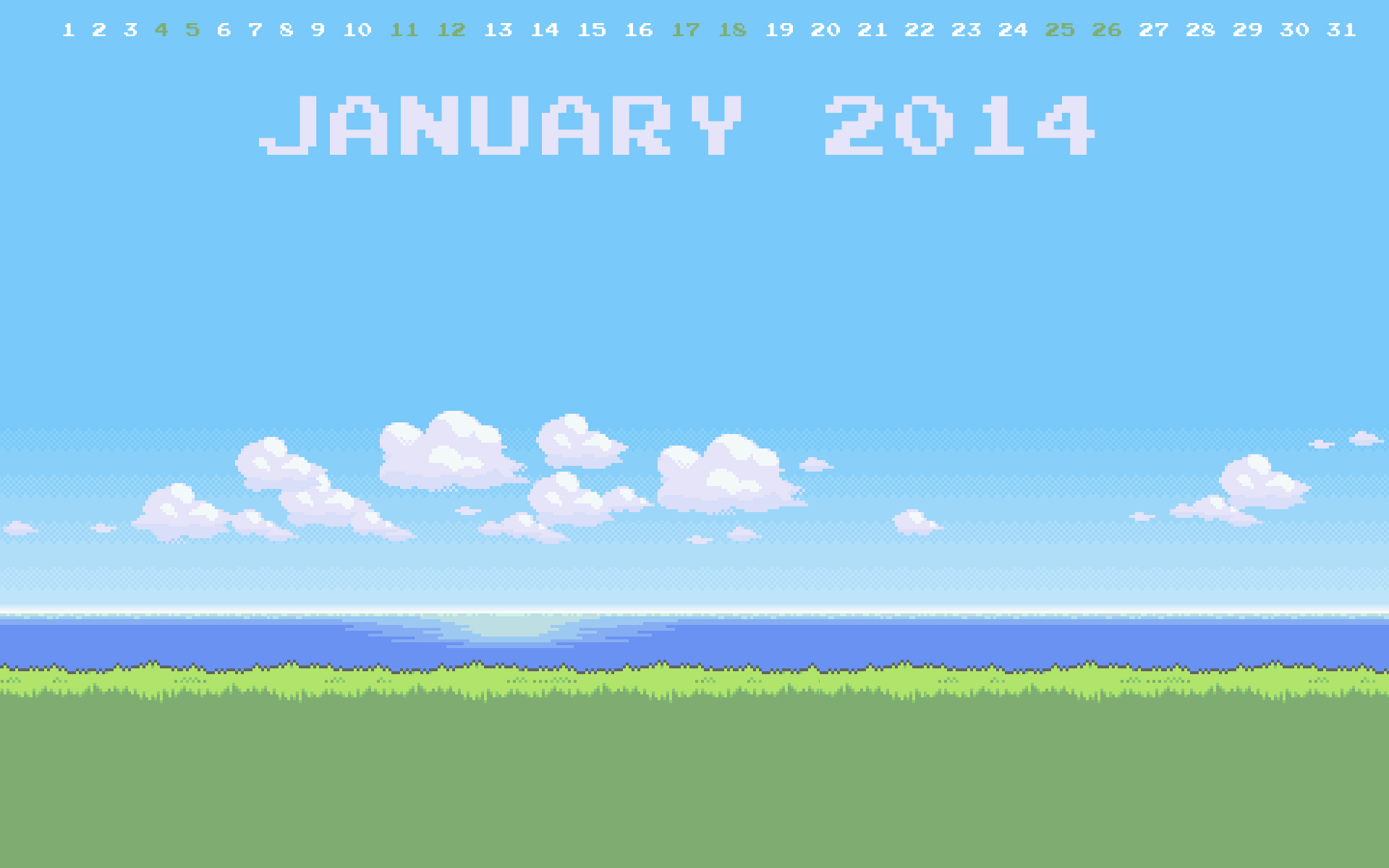 Gaming Wallpaper Calendar – January 2014