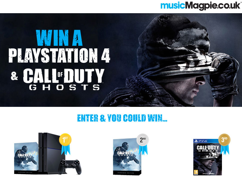 Win a Playstation 4 and Call of Duty: Ghosts with MusicMagpie
