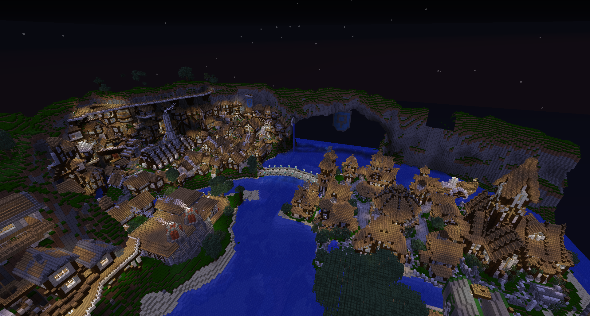 Minecraft Megabuild: A Song of Dirt and Cobble