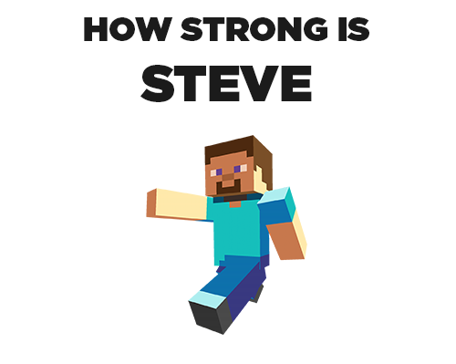 How strong is steve from minecraft (1)