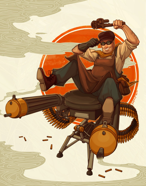 TF2 1980s Style Engineer