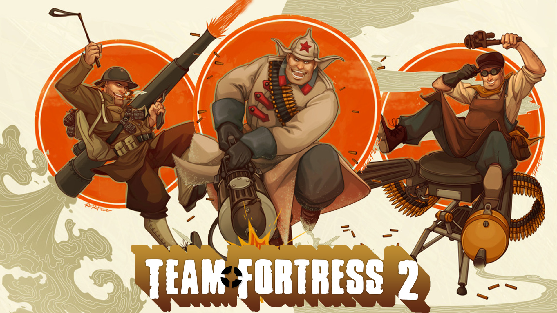Awesome Set of 1980s Style Team Fortress 2 Characters