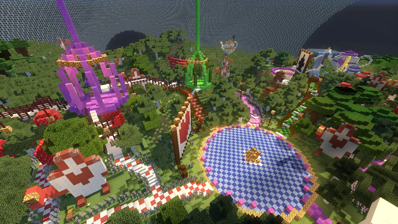 Stunning Alice in Wonderland Minecraft Survival Games Map