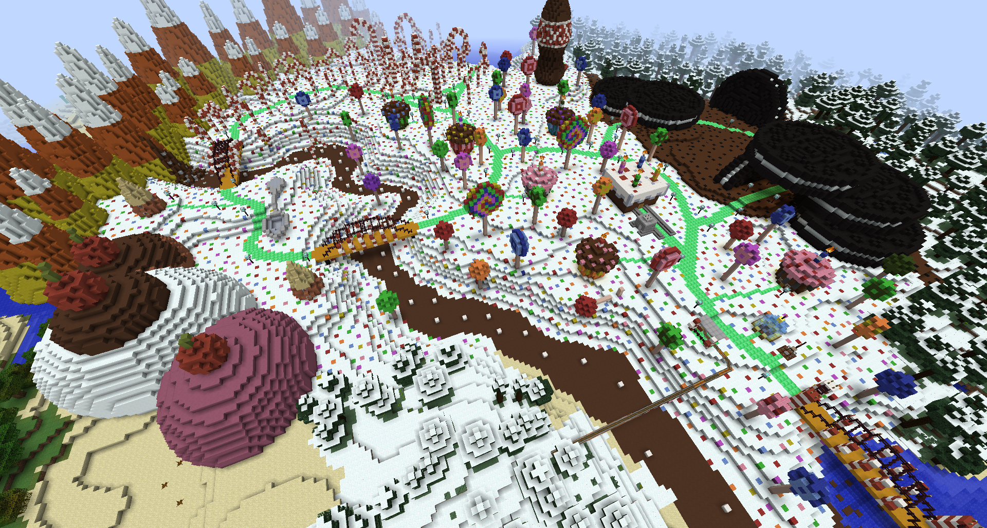 Awesome Minecraft Candy Land World Bc Gb