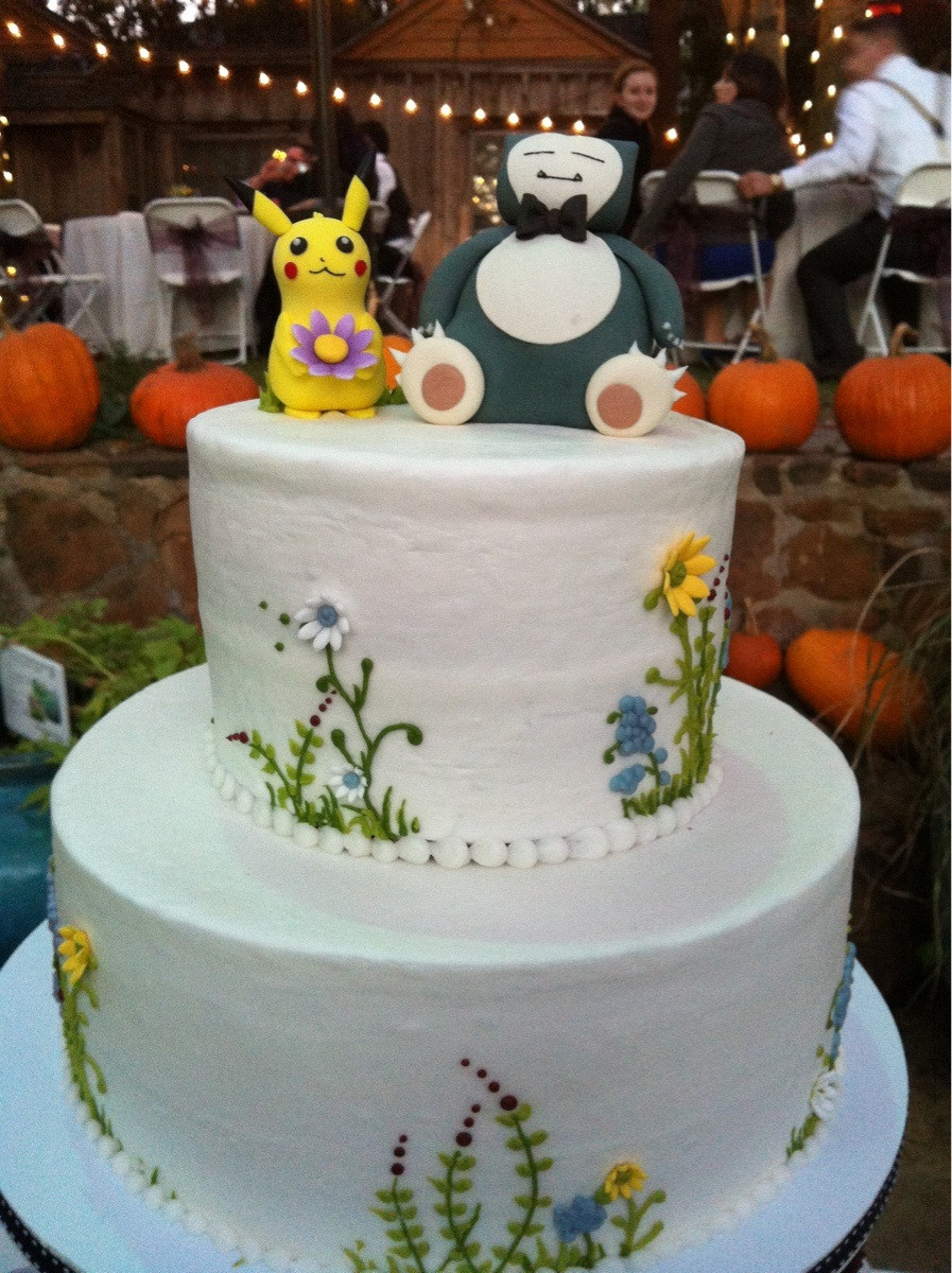 Yellow Themed Wedding Cake