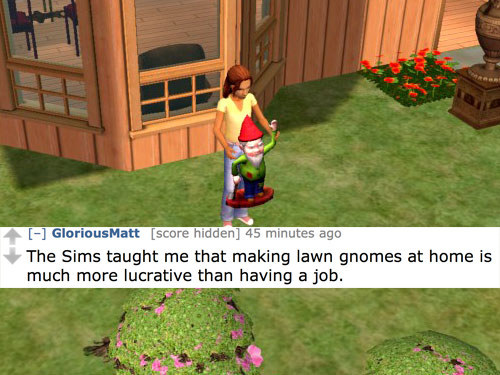 sims lawn gnomes