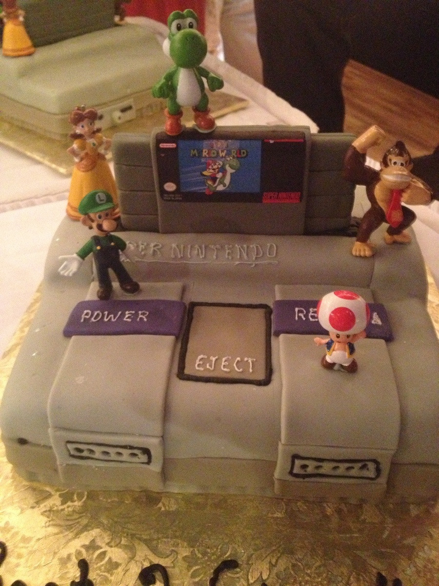 super nintendo wedding cake