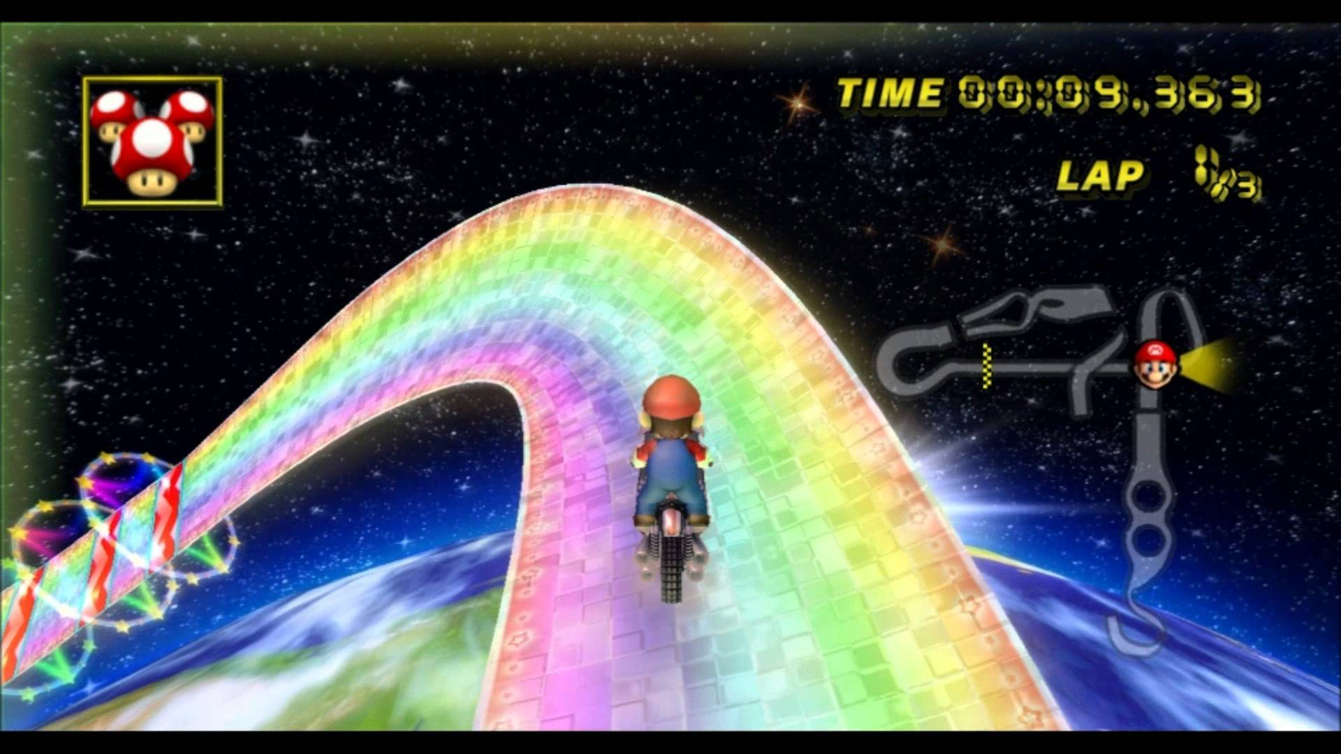A Timemap of the Iconic Rainbow Road Over the Years