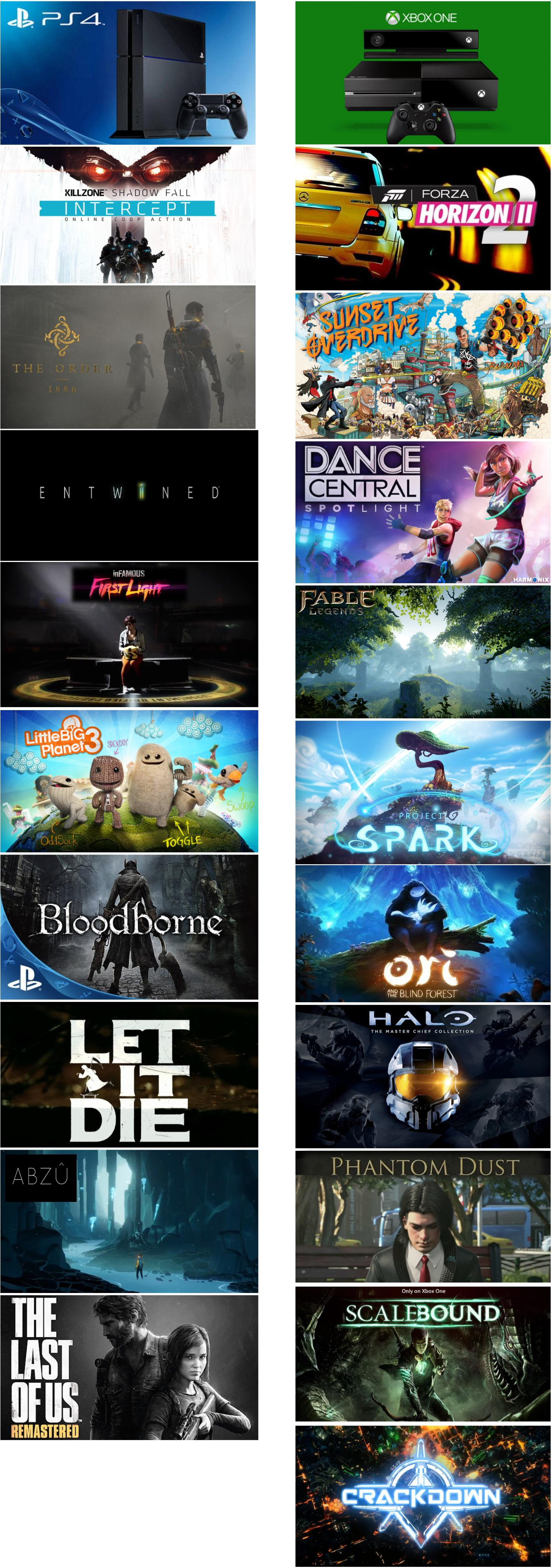 ps4 and xbox one exclusives at e3