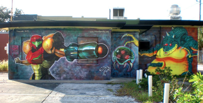 super metroid street art