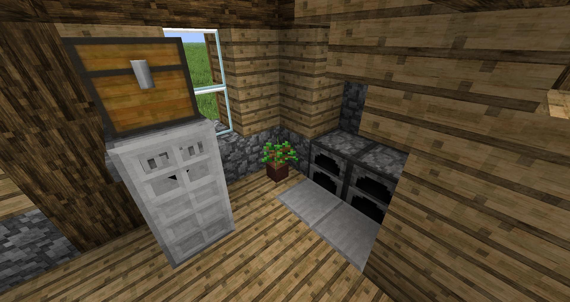 minecraft how to build a fridge