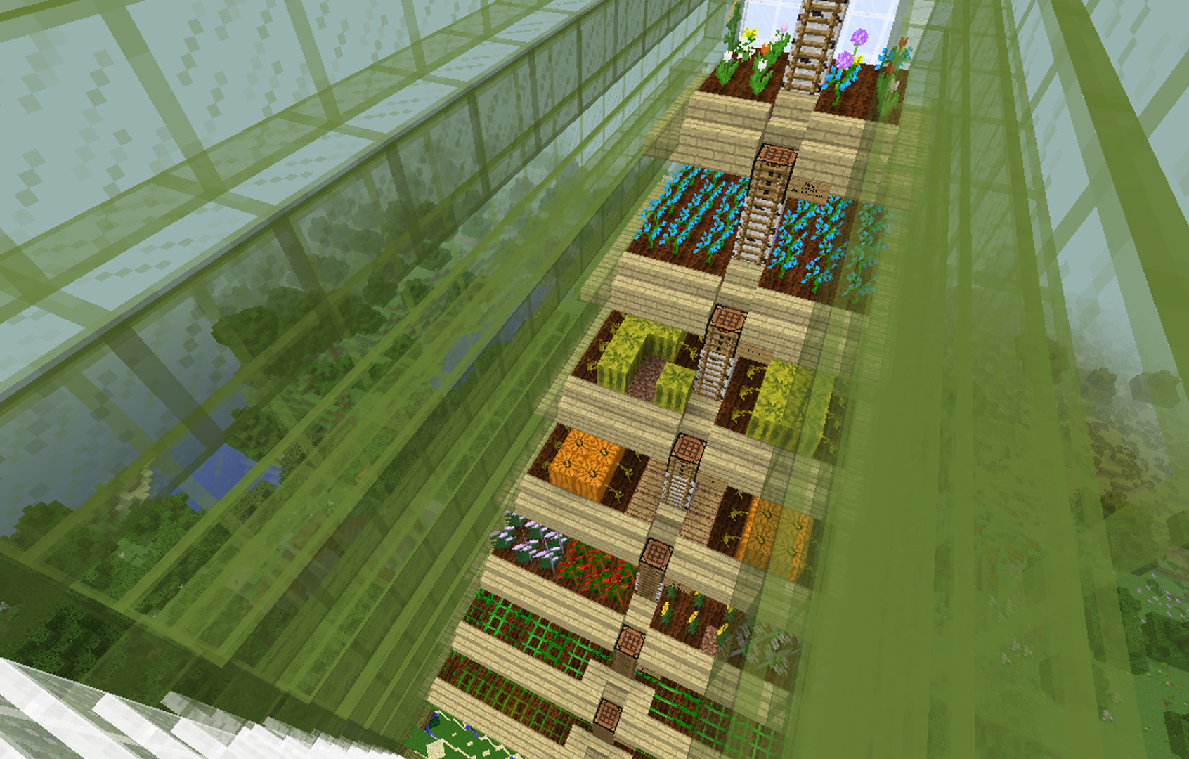 Minecraft Greenhouse How To Build