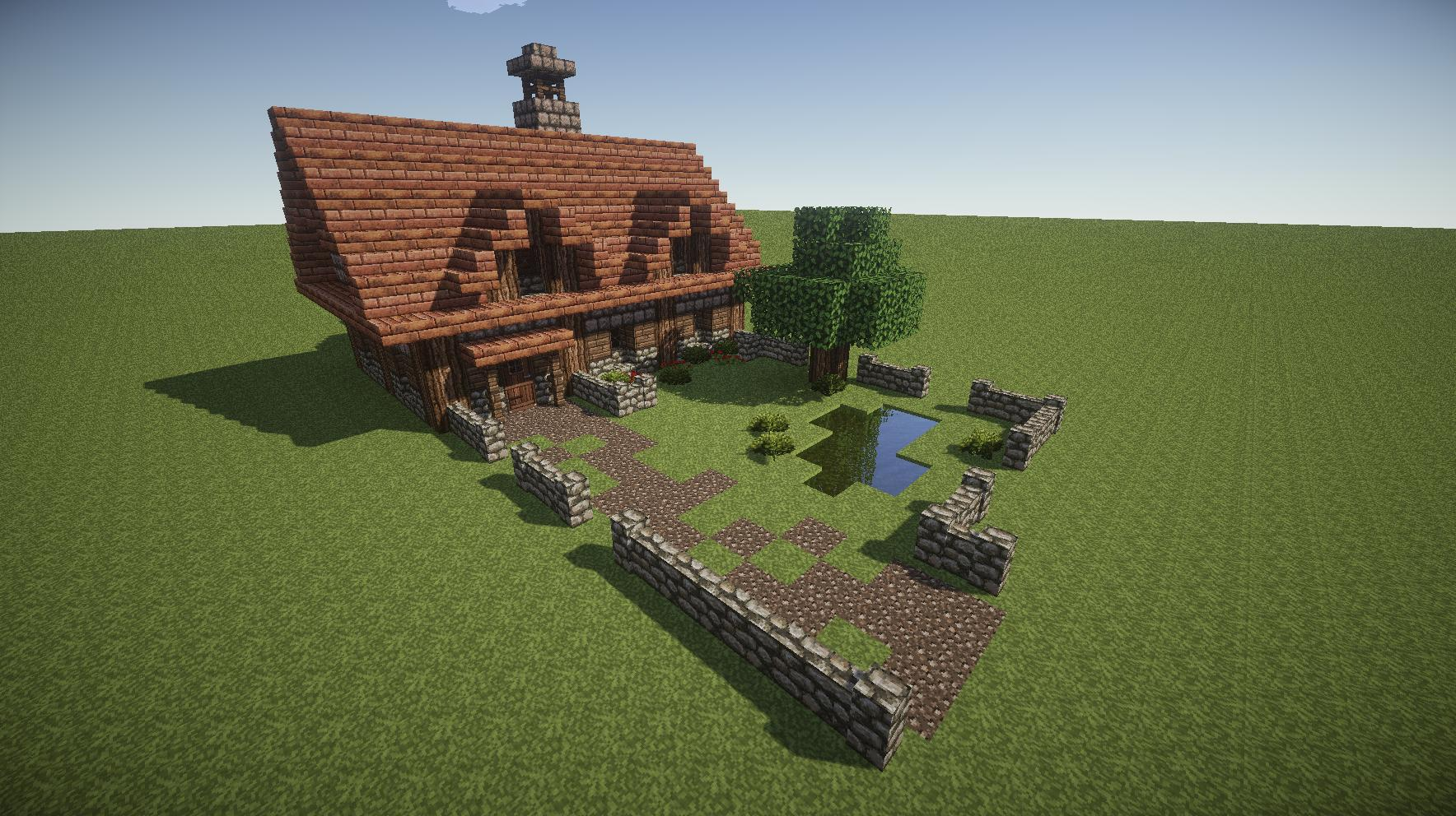 Image gallery minecraft cottage for How to build a cottage home