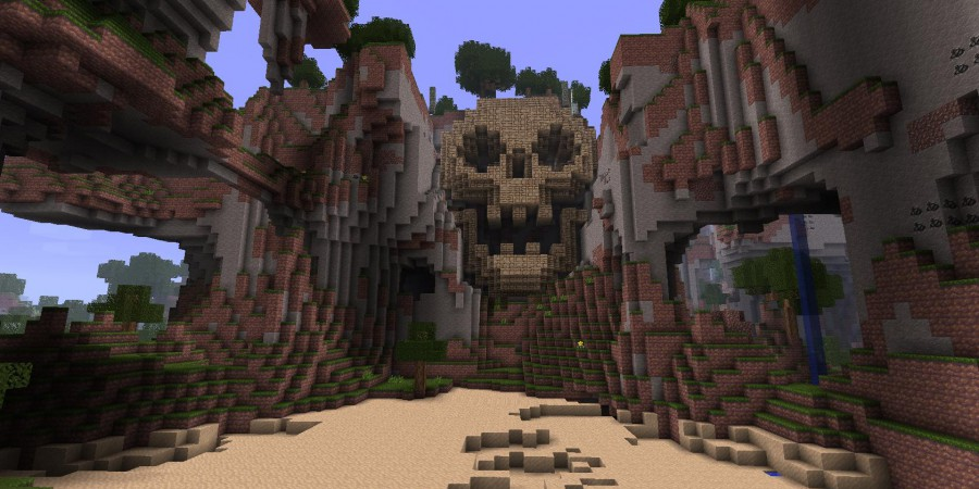 How to build a skull mountain evil base in minecraft bc gb for Building a house in the mountains