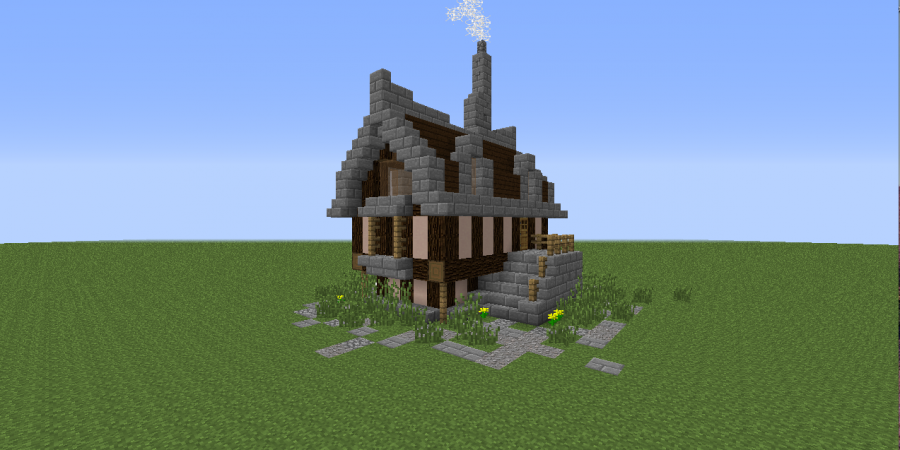 A simple elegant minecraft house tutorial bc gb for Classic house tutorial