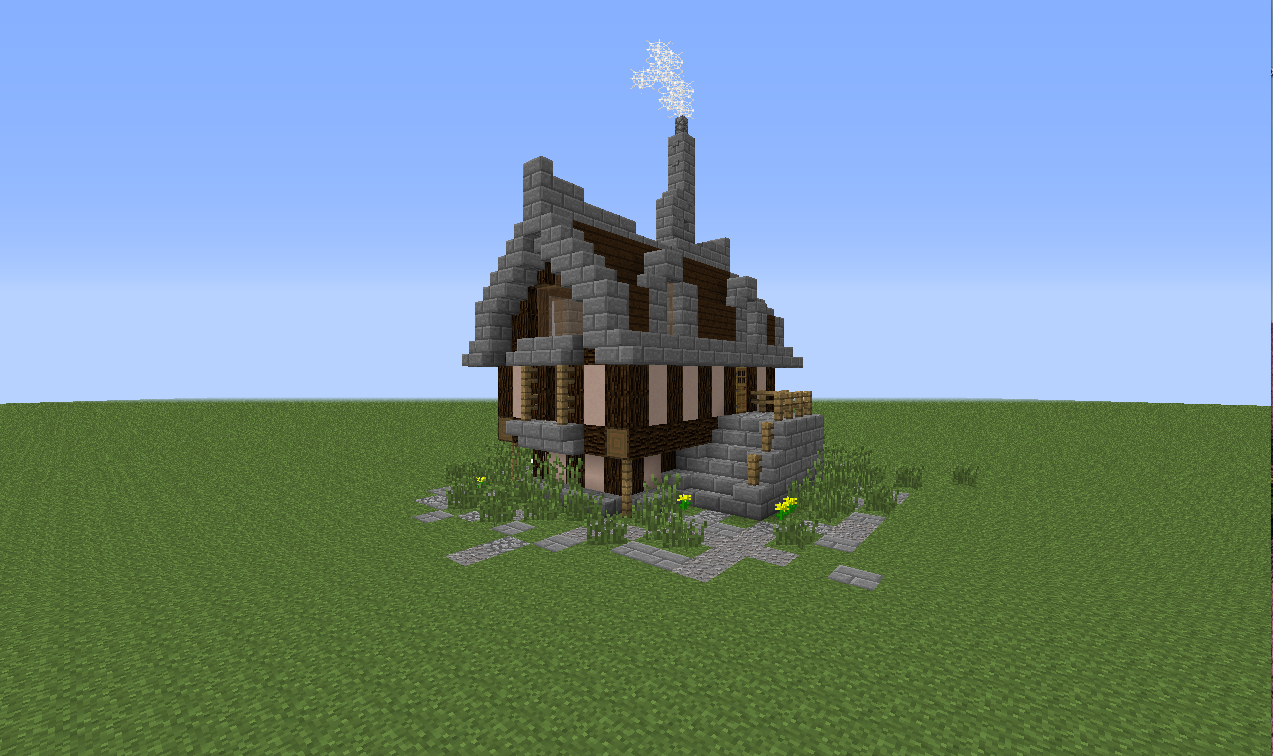 A simple elegant minecraft house tutorial bc gb for Simple mansion