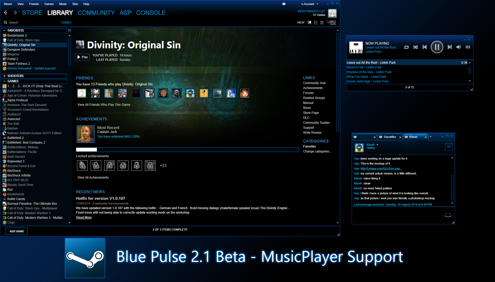 blue-pulse-steam-skin