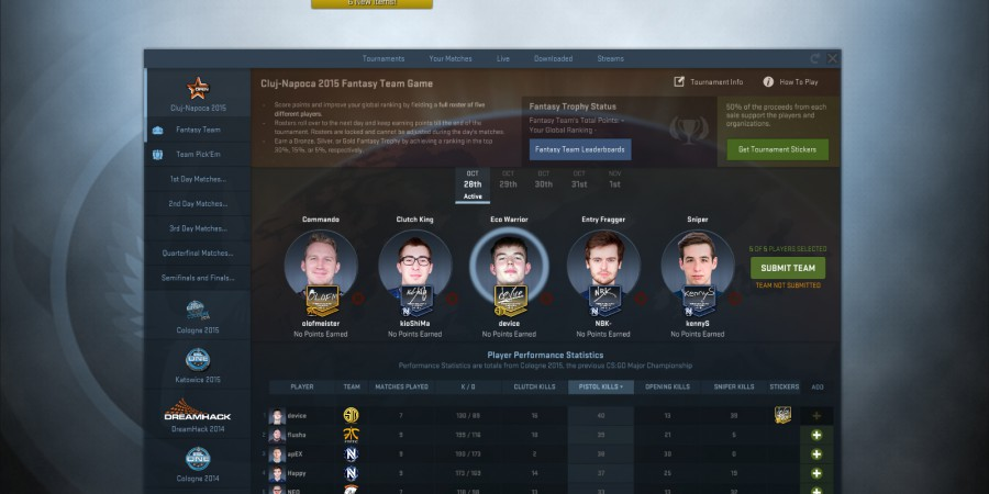 Day 1 DreamHack Cluj-Napoca Fantasy Picks