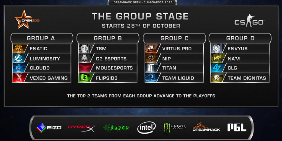 DreamHack Cluj CSGO Major Groups Revealed