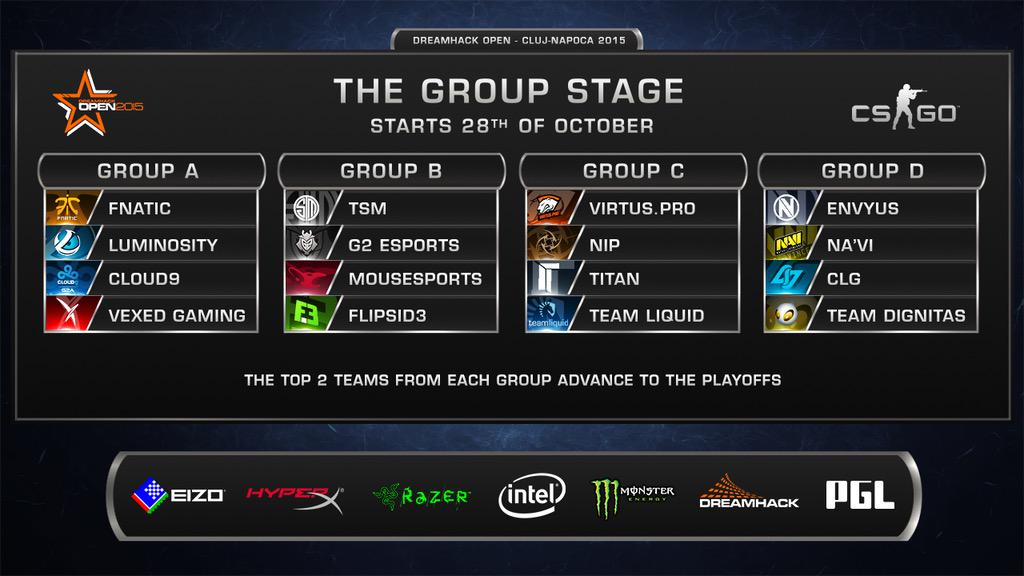 DreamHack Cluj CSGO Major Groups Revealed - BC-GB