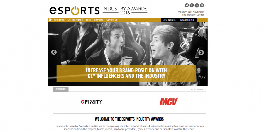 New Industry Awards Launches to Celebrate The World of eSports