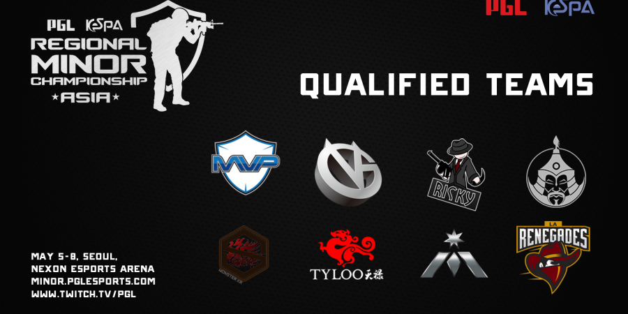 Eight Teams Confirmed To Take Part In The PGL KeSPA Regional Minor Championship: Asia