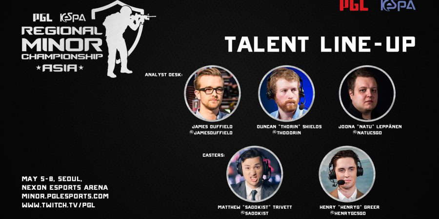 Announcing the talent line-up for the PGL KeSPA Regional Minor Championship: Asia