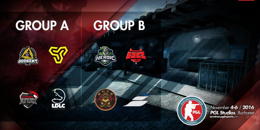 Groups and event schedule revealed for the upcoming PGL CS:GO Minor Championship: EUROPE