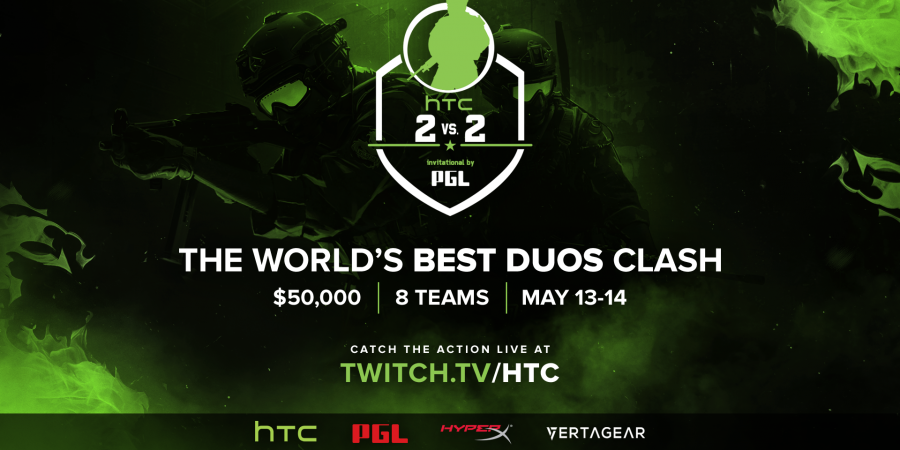 CS:GO duos will clash this Spring in the HTC 2v2 Invitational by PGL